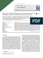 Estudios Sobre Las Propiedades Ópticas y Fotoeléctricas de La Antocianina y La Clorofila Como Co-sensibilizadores Naturales en Células Solares Sensibilizadas Con Tinte