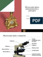 Microscopía Óptica Instrumentación y Principios