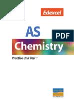 Edexcel as Chemistry Practice Unit Test1