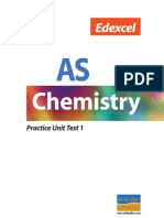 Edexcel as Chemistry Practice Unit Test1