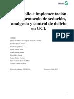 Protocolo Sedacion Analgesia y Control Del Delirio Uci