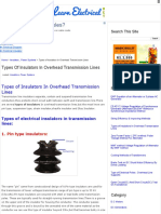 Types of Insulators in Overhead Transmission Lines _ Learn Electrical