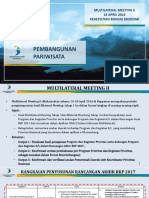 Multilateral MUSRENBANGNAS BAPPENAS Pembangunan Pariwisata 2016
