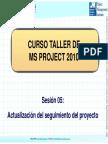 Curso MS Proyect - Sesión 6