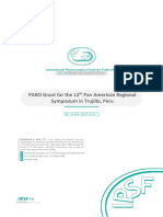IPSF PARO Grant for the 12th IPSF Pan American Regional Symposium in Trujillo, Peru
