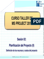 Curso MS Proyect - Sesion 2