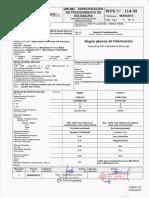 procedimiento de soldadura WPS N° 114-M y PQR N° 114