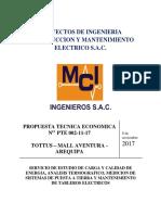 Propuesta Tecnica Economica Estudio de Calidad de Energia y Eficiencia Energetica - Mci Ingenieros - Tottus - Arequipa_08!11!2017