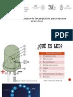 Sistema de Iluminación Led Regulable Para Espacios Educativos