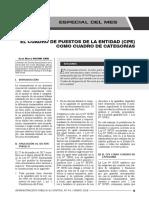 Cuadro de Puestos de La Entidad Como Cuadro de Categorías - Autor José María Pacori Cari