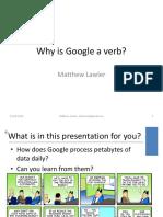 Talk - Why is Google a Verb