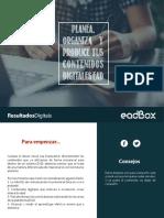 Planea, Organiza y Produce Tus Contenidos Digitales Ead