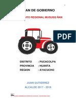 Plan de Gobierno Distrital Pucacolpa