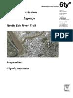 North Esk Trail wayfinding development application