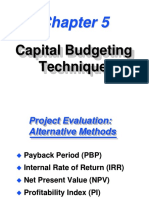 Capital Budgeting Techniques-CH6