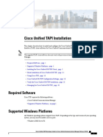 Cisco Unified Tapi Installation