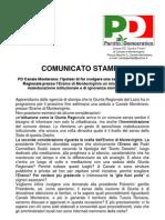 Comunicato Stampa su riunione Giunta Regionale presso l'Eremo di Montevirginio