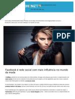 Facebook é Rede Social Com Mais Influência No Mundo Da Moda _ TecheNet