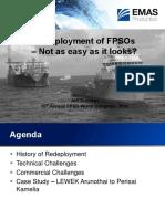 Redeployment of FPSOs - Not as Easy as It Looks by Jon Dunstan