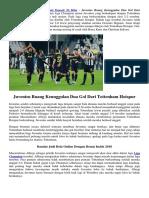 Juventus Buang Keunggulan Dua Gol Dari Tottenham Hotspur