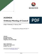 City of Greater Bendigo Ordinary Agenda 21 February 2018