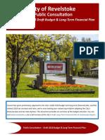City of Revelstoke 2018 Financial Plan public consultation document