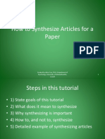 How to Synthesize Articles for a Paper_tcm18-117649