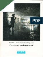Sandvik Drilling Tools Care and Maintenance