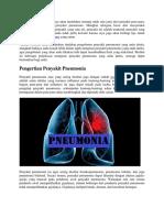 Tips Untuk Mengobati Penyakit Pneumonia Yang Aman