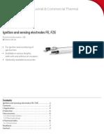 Electrozi de Aprindere Si de Ionizare Technical Information - 2016