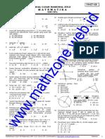 Soal Dan Pembahasan Un Matematika SMP 20121