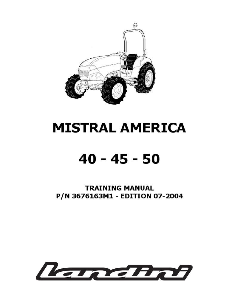 -Landini Mistral America 40-45-50 Tractor Workshop Service