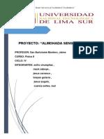 Informe de Almohada Sensorial