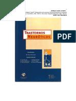 Tratamientos en Las Neurosis. en Roca Bennasar M. Trastornos Neuróticos