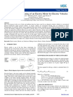 Research Electric Car.selection of Power Rating of an Electric Motor for Electric Vehicles