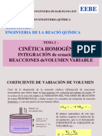 TEMA 2 - Integr Ec. Reacciones Homog. de v. Variable