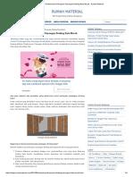 Metode Pelaksanaan Pekerjaan Pasangan Dinding Bata Merah - Rumah Material
