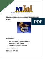 Revisión Bibliográfica Biblioteca Emi 23 de Marzo