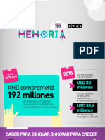 ANNI (2015). Memoria Anual
