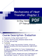 Lecture 1 Mechanismsof HT 524