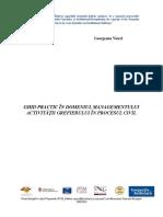 Ghid – Managementul Activității Grefierului În Procesul Civil