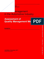 VDA Volume Assessment of Quality Management Methods Guideline 1st Edition November 2017 Online-Document