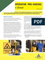 Forklift Operator Pre Checks