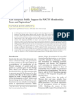East European Public Support for NATO Membership- Fears and Aspirations
