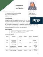 Curriculum Vitae of Asma Sultana (1)