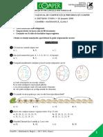 Subiect Comper Matematica EtapaI 2017 2018 ClasaI