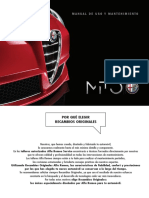 Manual Alfa Romeo Mito 2016