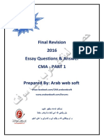 Final Revesion 2016 Essay Q & a CMA Part 1 by Arabwebsoft