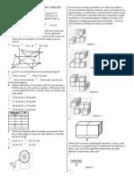 Examen Matemática Tercero