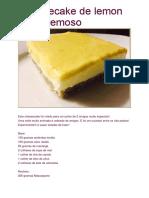 Cheesecake de Lemon Curd Cremoso